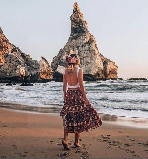 Langer Hippie Rock für Frauen