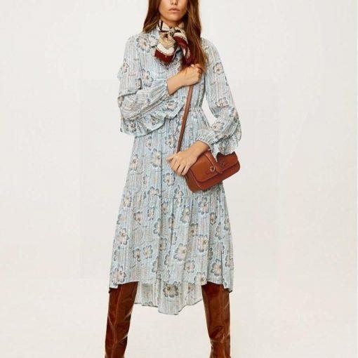 Hippie schickes mittellanges Kleid